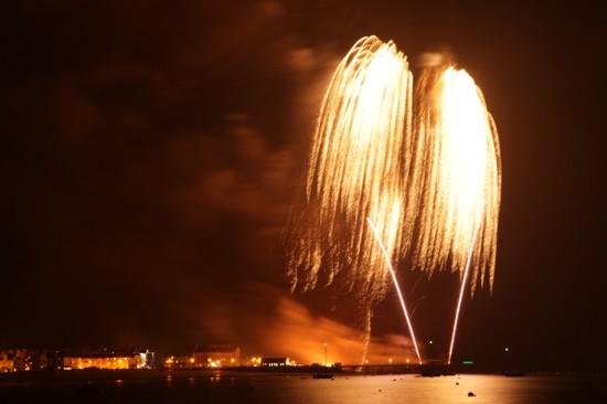 Fireworks at Beaumaris 2010