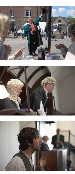 Court scenes at Beaumaris