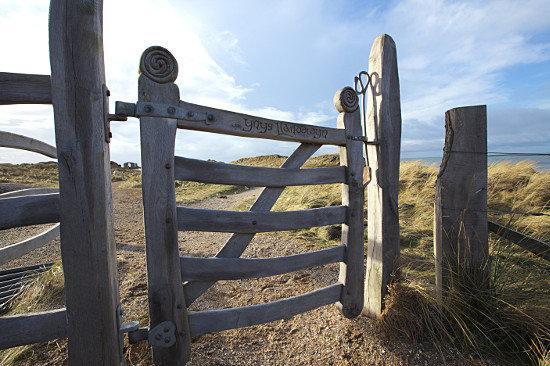 gate at llanddwyn island