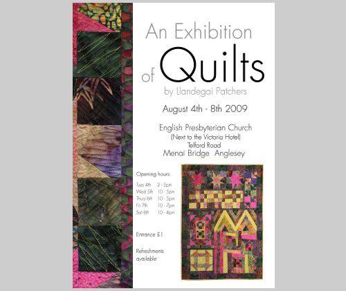 Poster for the Quilt Exhibition at Menai Bridge