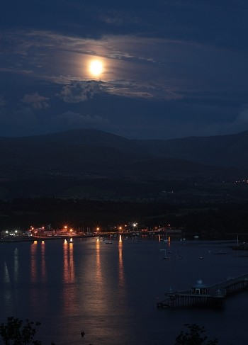 Moonlight over Snowdonia
