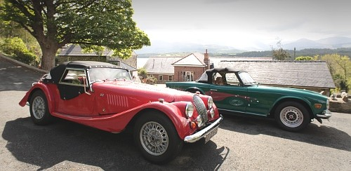 A Morgan and a TR6 came to Coed y Berclas