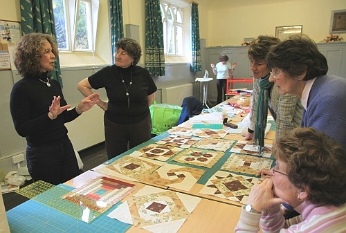 Dorothy Russell Quilting workshop on Anglesey