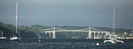 Flotilla forges on to Menai Bridge