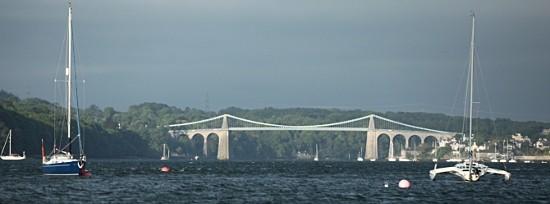 Flotilla forges on to Menai Bridge