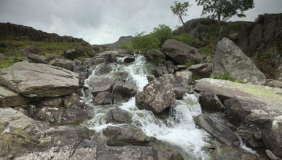 Idwal waterfall. Cwm Idwal