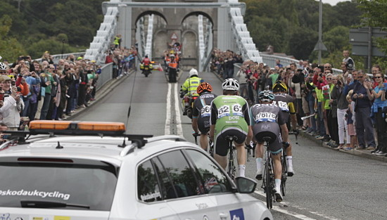 Aviva Tour of Britain Cycle race 2015.