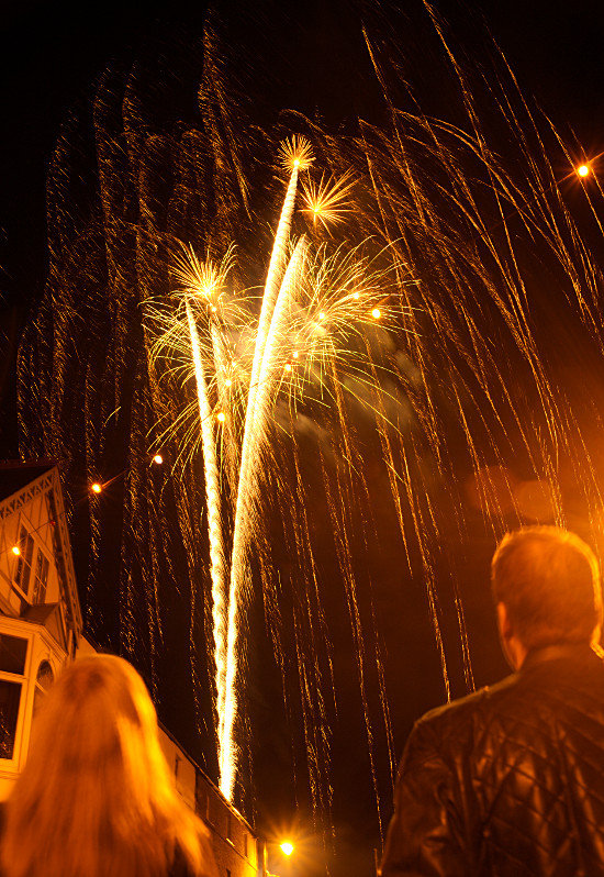 Beaumaris fireworks on New Year's Eve 2015