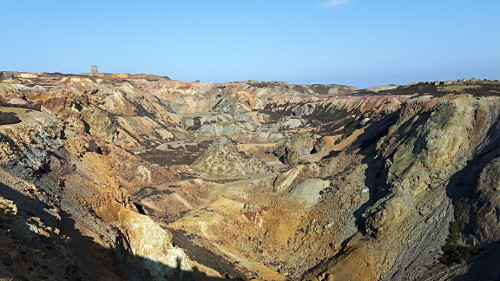 image of geology of Parys Mountain, Anglesey