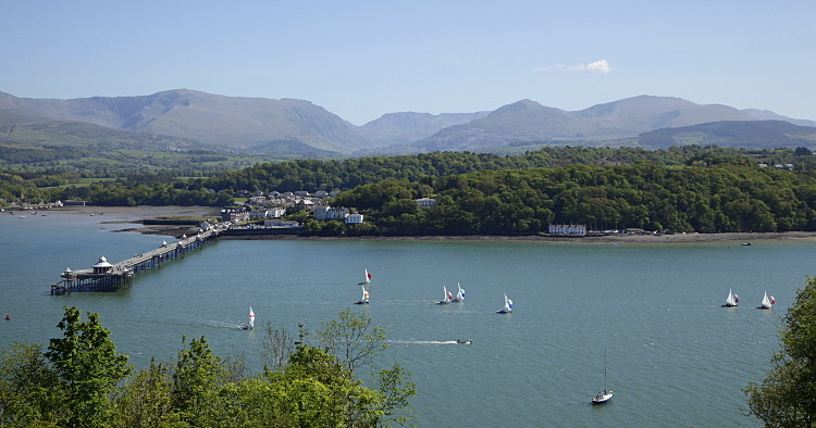 A spring outing of the Royal Anglesey sailing club, by the pier, on the Menai Strait