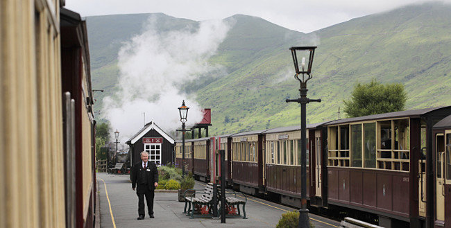 Rhyd Ddu station on the Welsh Highland Railway