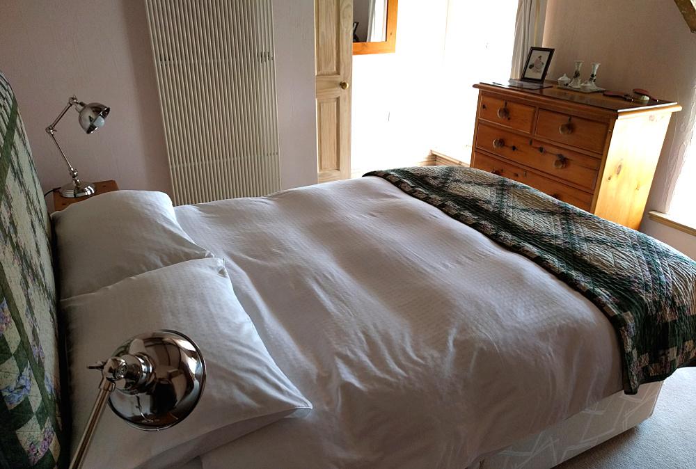 main bedroom looking towards windows