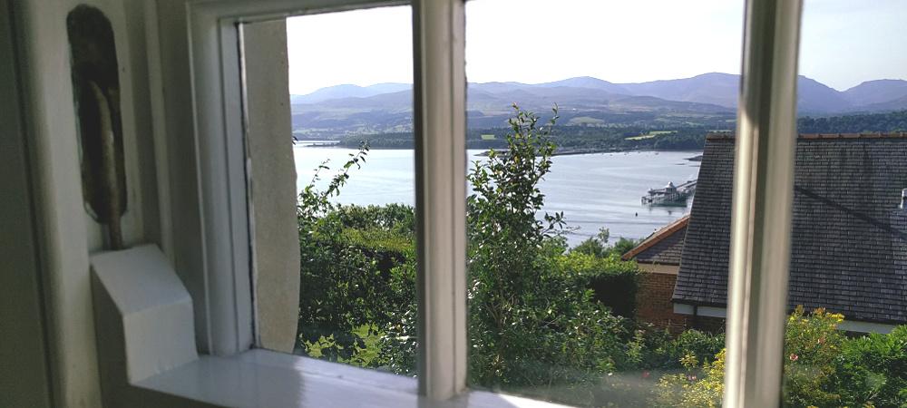 main bedroom view to Menai Strait and Snowdonia