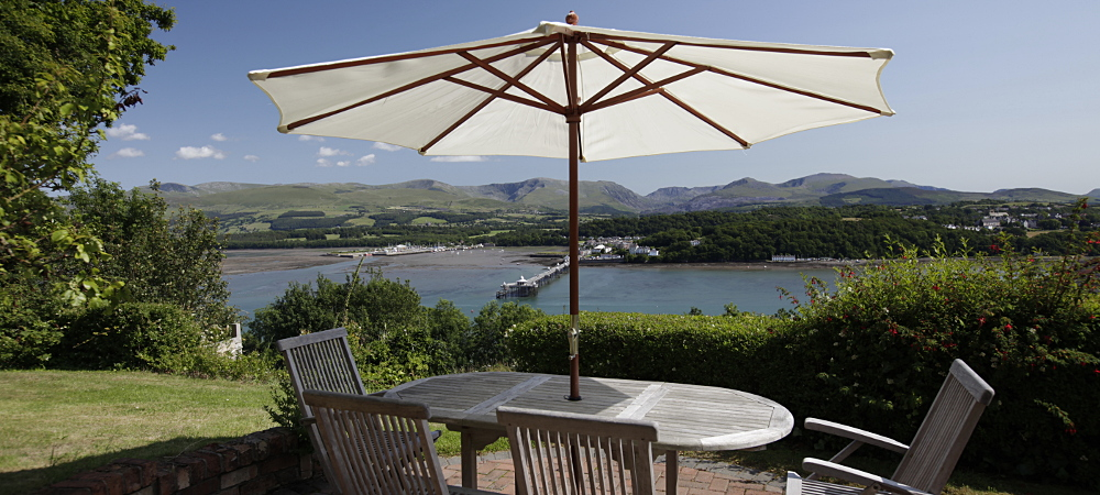 Awesome view of Menai Strait and Snowdonia from your private orchard