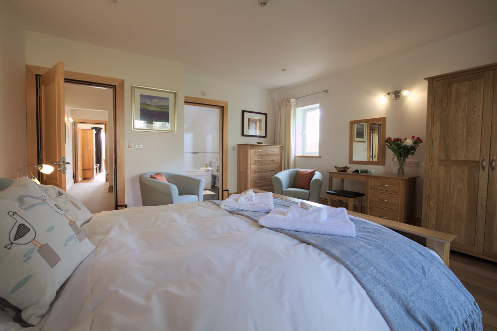 Bedroom 2 in your luxury apartment at Coed y Berclas