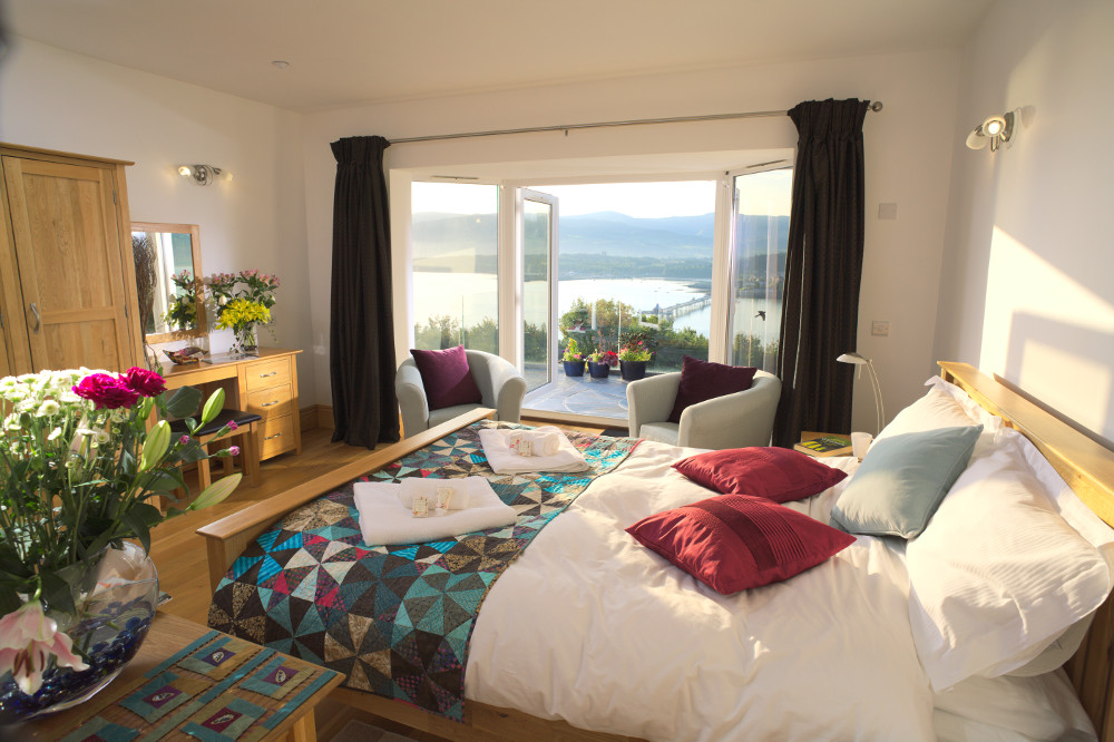 awesome view from your front bedroom in the apartment at Coed y Berclas