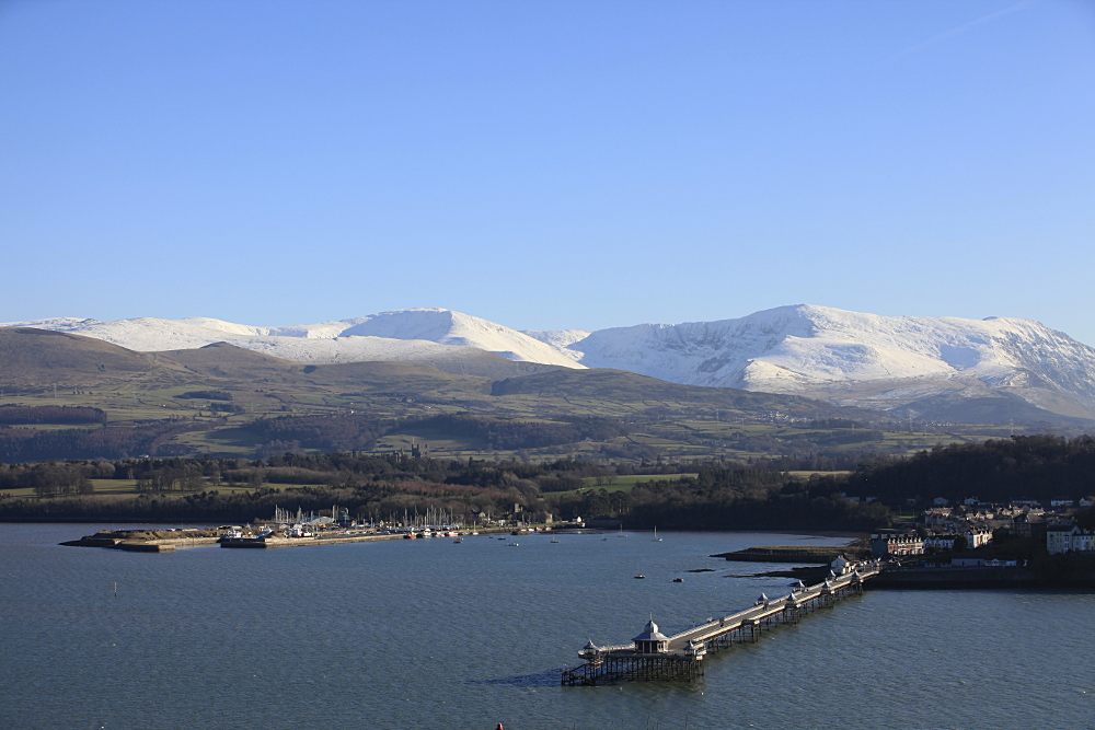 Snowdonia, Bangor Pier and the Menai Strait from your apartment terrace