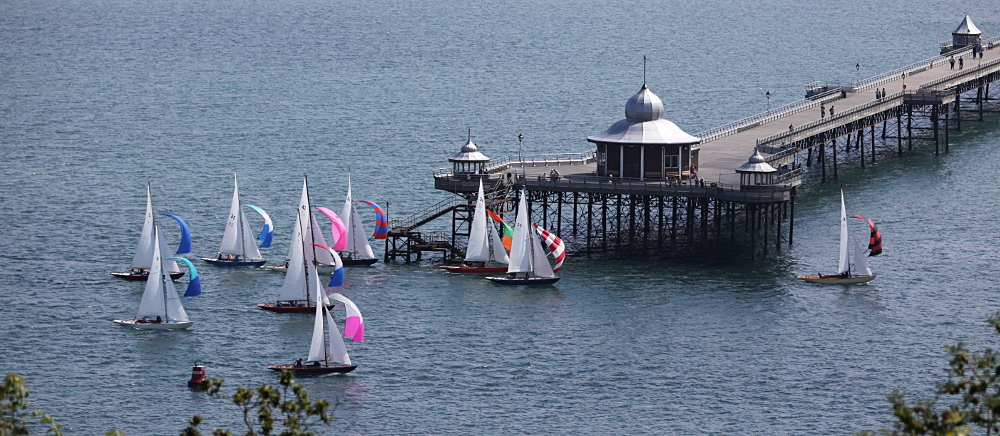Beaumaris regatta passes bangor Pier in August