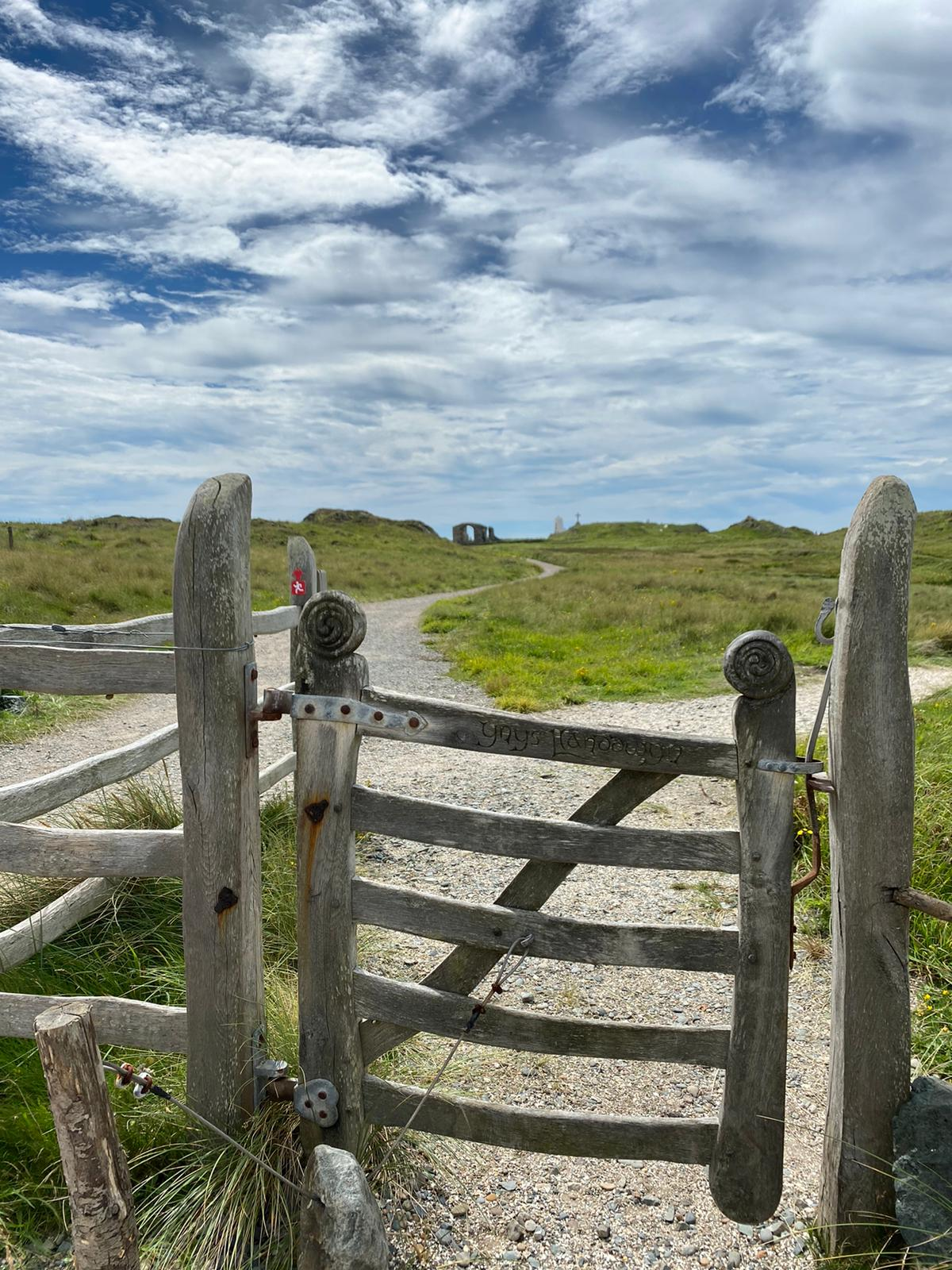 Beautiful gate onto LLanddwyn Island, always magical